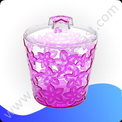 Банка для сыпучих продуктов кристальная с узором 1 л AP9238