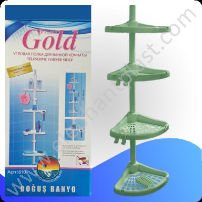 Полка для ванной комнаты угловая «PRIMA GOLD» 610