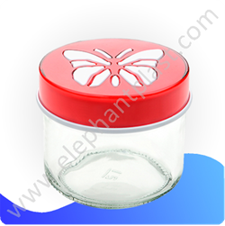 Банка для сыпучих «Бабочка» стекло 0,7 л KC153
