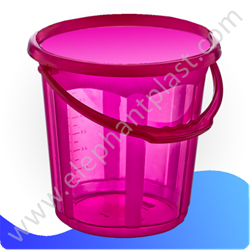 Ведро для воды «Стиль» прозрачное 15 л 09134