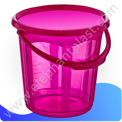 Ведро для воды «Стиль» прозрачное 19,5 л 09135