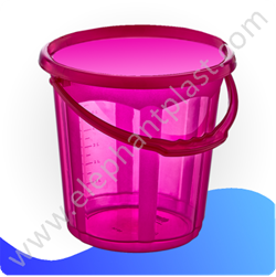 Ведро для воды «Стиль» прозрачное 7 л 09132
