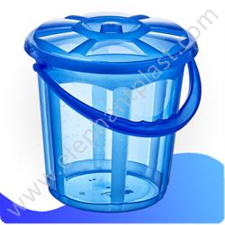 Ведро для воды «Стиль» с крышкой прозрачное 15 л 09114