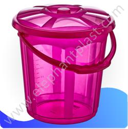 Ведро для воды «Стиль» с крышкой прозрачное 19,5 л 09115
