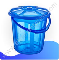 Ведро для воды «Стиль» с крышкой прозрачное 7 л 09112