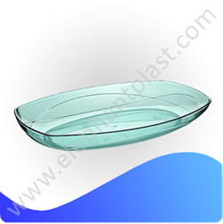 Тарелка овальная кристальная 33 см AP9204