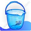 Ведро для воды «БЕЙБИ» с рисунком прозрачное 13 л 09118