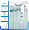 Карниз для ванной комнаты овальный хромированный 90 х 90 021A