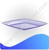 Тарелка квадратная кристальная 24 см AP9205